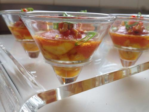 Cristalines Gaspacho et Gambas